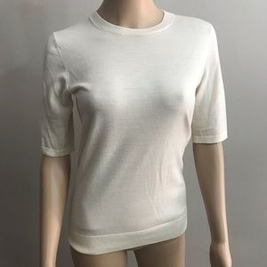 Theory Knit Top Short sleeve Beige Sz S